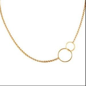 Zoe Chico Rose Gold Mixed Circle Necklace